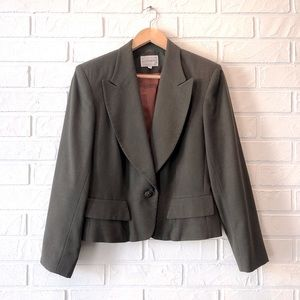 Vintage cropped pure wool blazer jacket 80s 90s